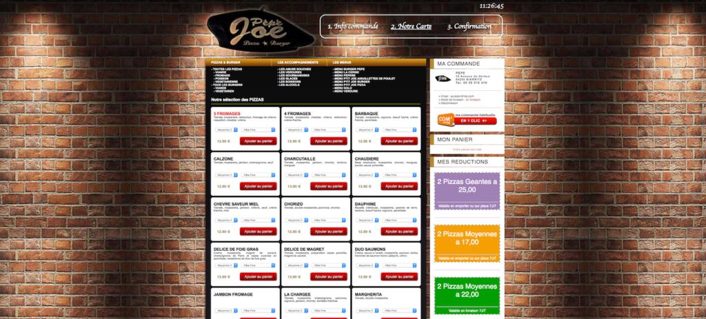 Commande en ligne pepejoe.fr - Burgers & pizzas en